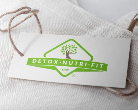 Logo pentru site de produse naturiste Detoxinutrifit