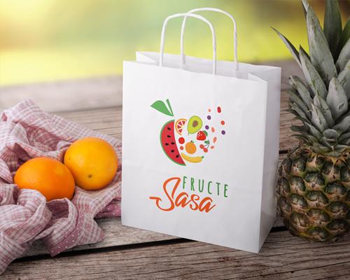 """Logo pentru magazin de fructe """" Fructe SASA"""""""