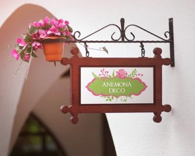 """Logo pentru florarie """"Anemona Deco"""""""
